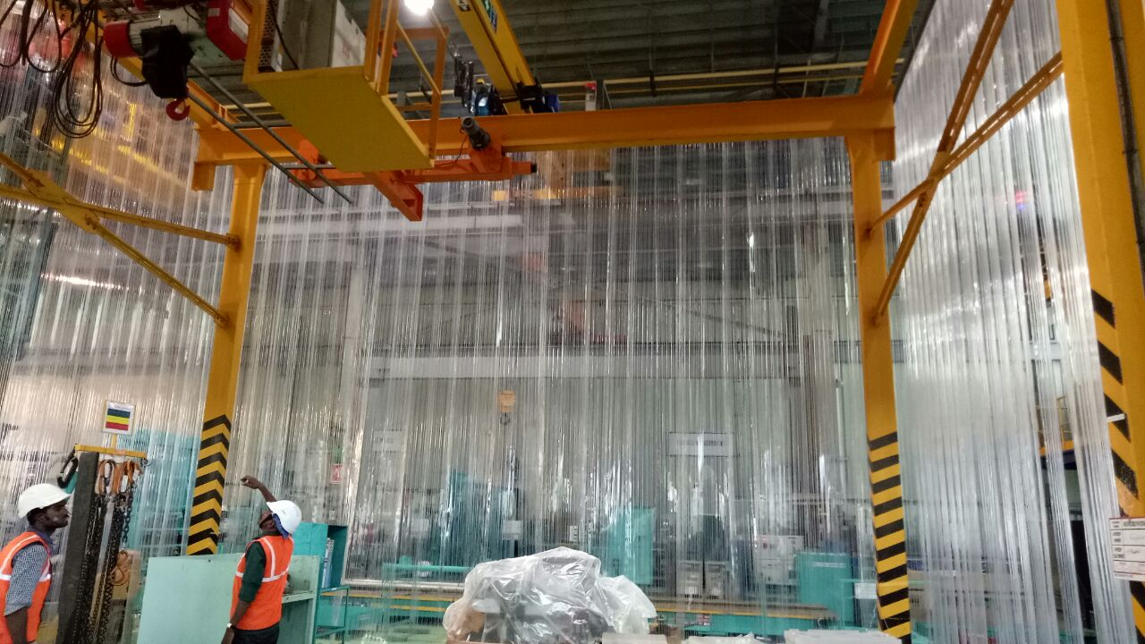 Double ribbed pvc strip curtains, Industrial pvc strip curtains in Chennai and India
