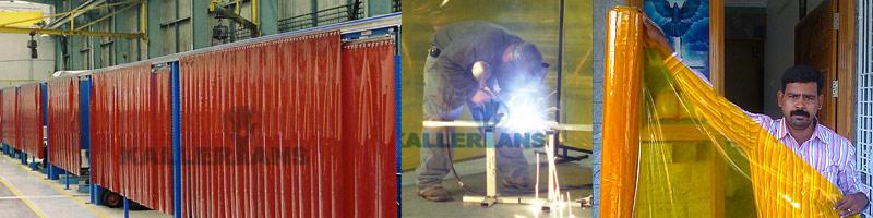 PVC Welding Screens Welding Blankets | PVC Strip Curtains Chennai