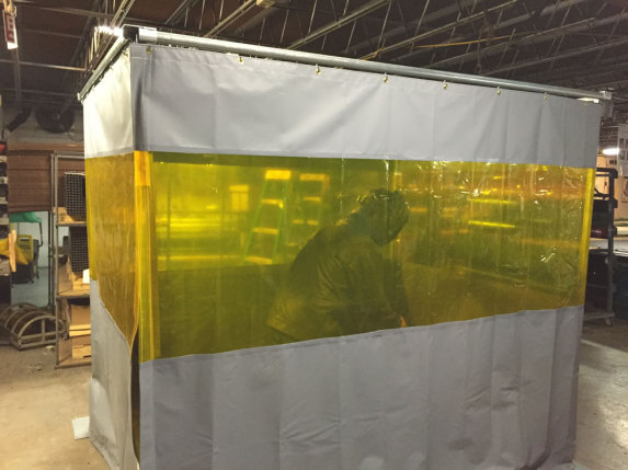 Welding Curtains Booths, Welding Screens with Rectractable track, Welding sheets in Chennai