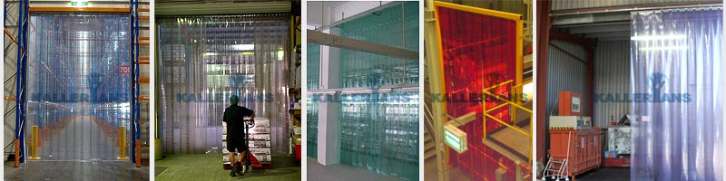 pvc strip doors and curtains