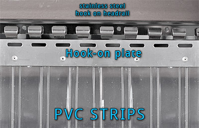 pvc strip hanging method